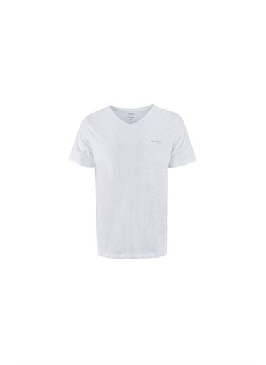 Lumberjack Ct106 Basic V Neck T-Shir Erkek Kısa Kol T-Shirt Beyaz